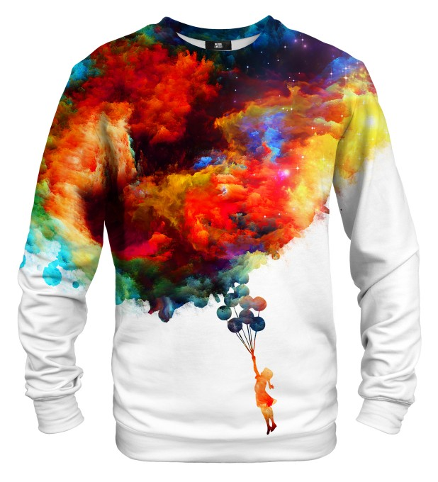 With balloons to galaxy sweatshirt Miniaturbild 2