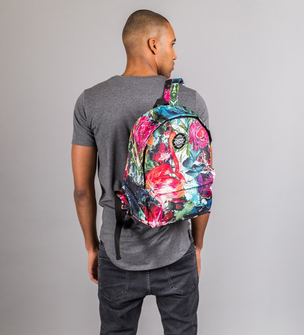 Colorful Flamingo backpack Miniature 2
