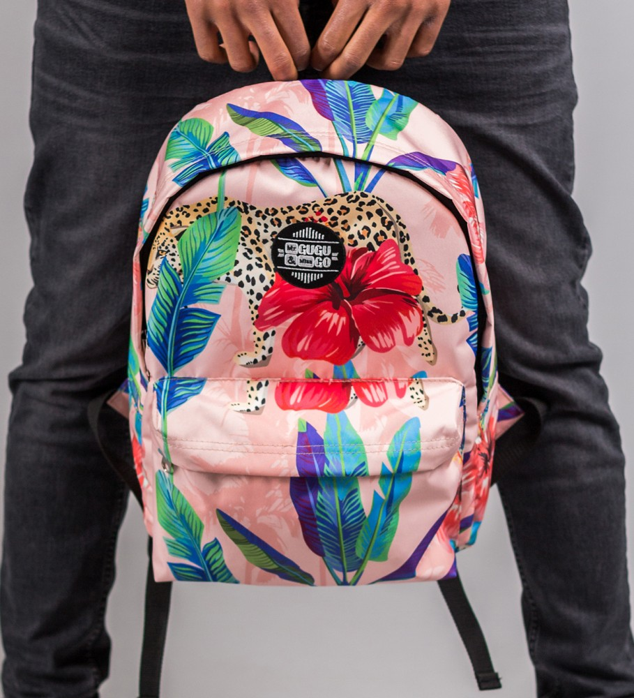 Mr. Gugu & Miss Go, Floral Cheetah backpack Image $i