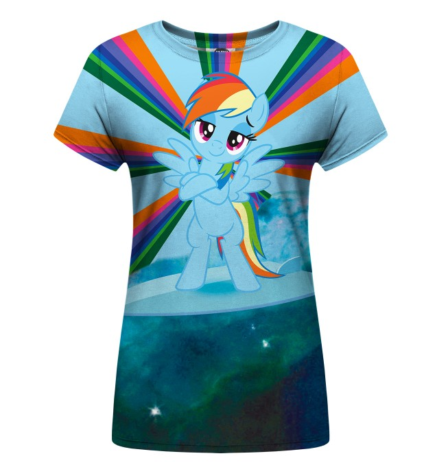 Rainbow Surfer Womens t-shirt Miniatura 1