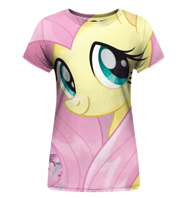 Fluttershy and Butterflies womens t-shirt аватар 1
