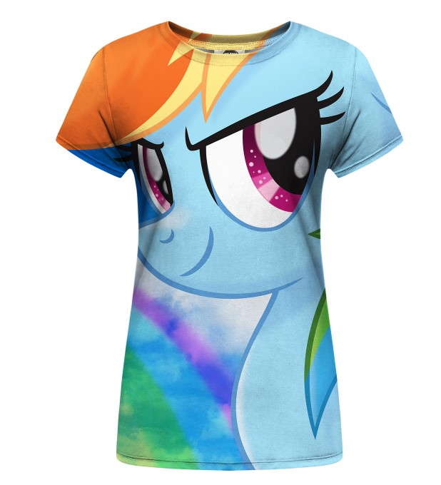 Rainbow Sky womens t-shirt Miniature 1