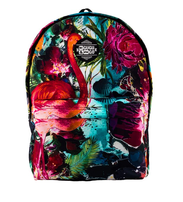 Colorful Flamingo backpack Miniature 1