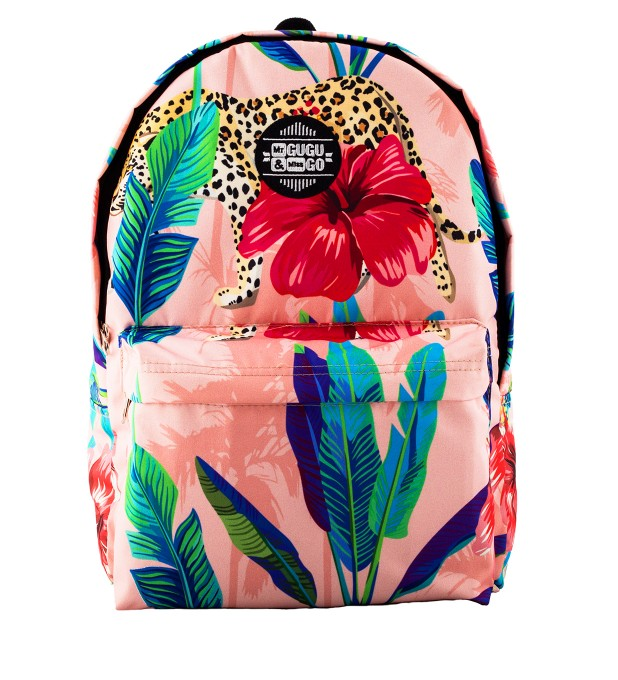 Floral Cheetah backpack Thumbnail 1