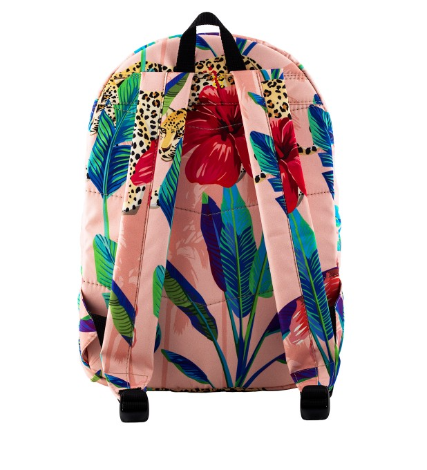 Floral Cheetah backpack Thumbnail 2