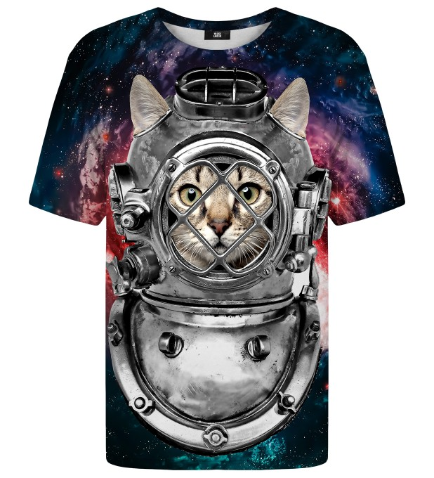 Astronaut Cat t-shirt Miniature 1