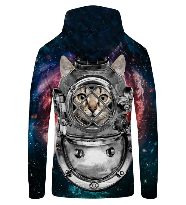 Astronaut Cat Zip Up Hoodie Thumbnail 2