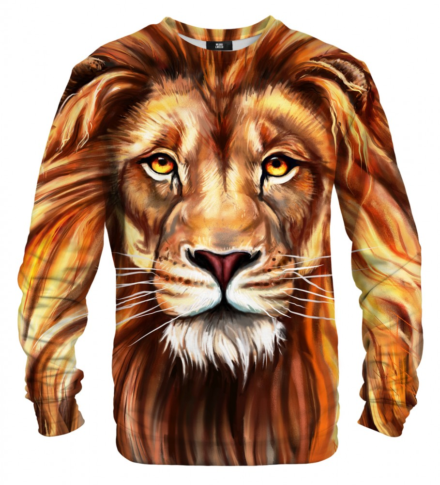 Mr. Gugu & Miss Go, Oil Painting Lion sweater Imagen $i