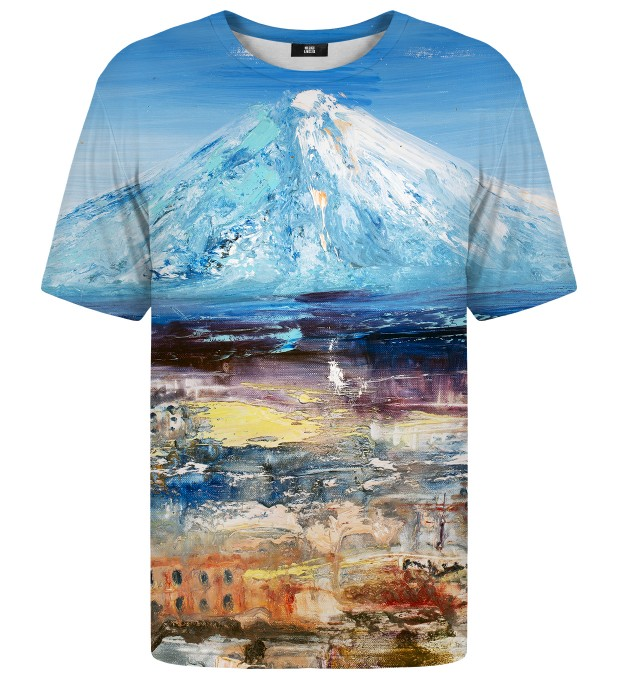 Painting Fuji Mountain t-shirt Miniatura 1