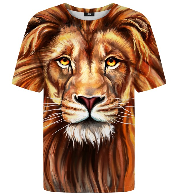 T-shirt Oil Painting Lion Miniatury 1