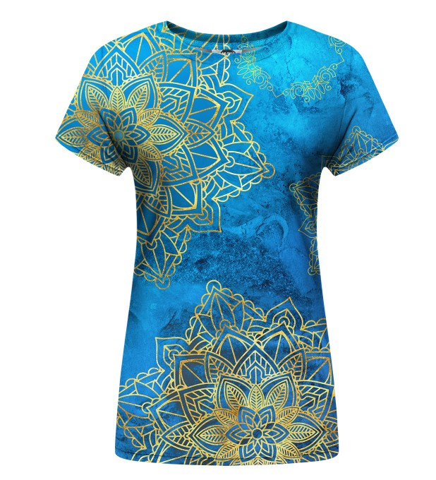 Gold Boho womens t-shirt Miniatura 1