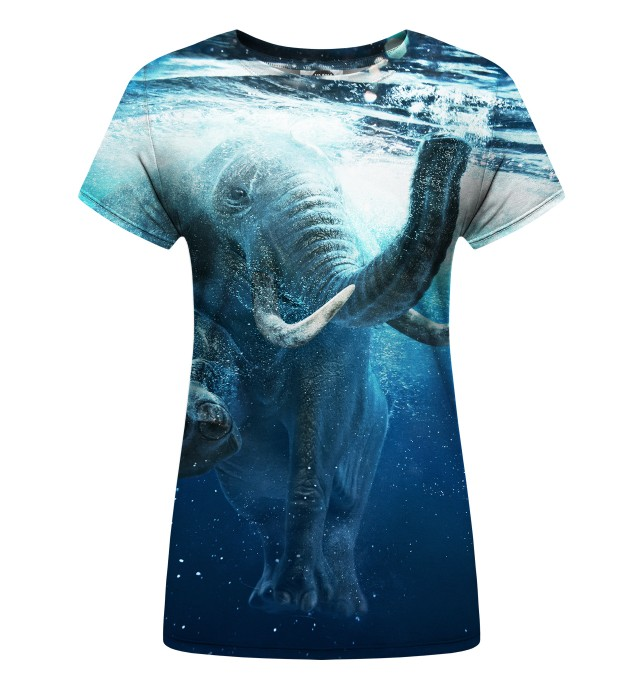 Underwater womens t-shirt Miniature 1