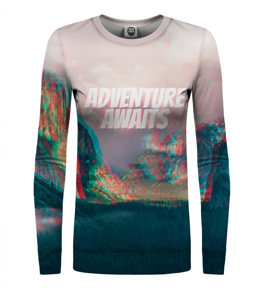 Mr. Gugu & Miss Go, Adventure Awaits womens sweater Imagen $i