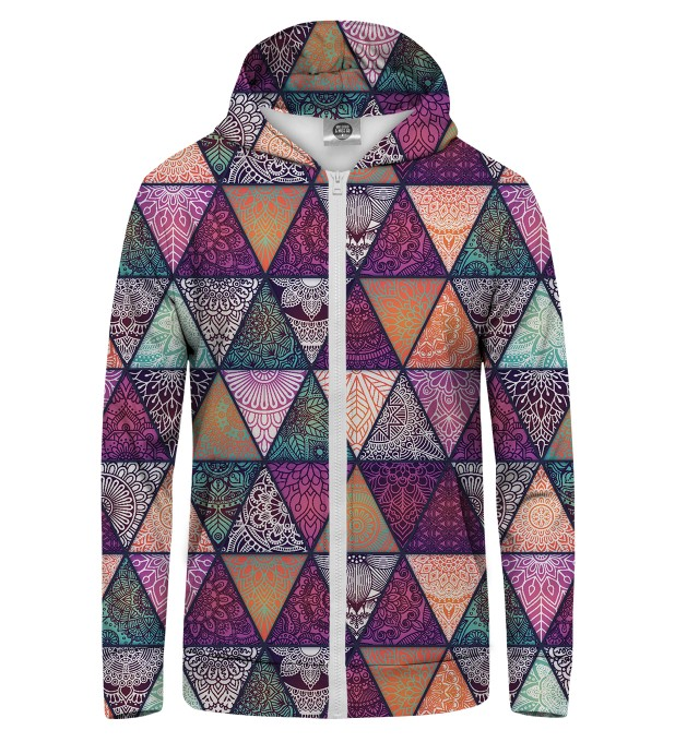 Triangles Zip Up Hoodie Miniature 1