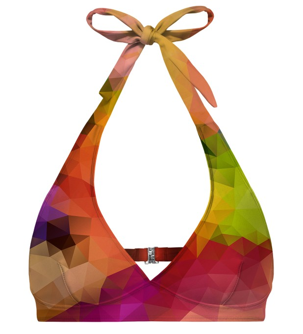 Colorful Geometric halter neck bikini top аватар 1