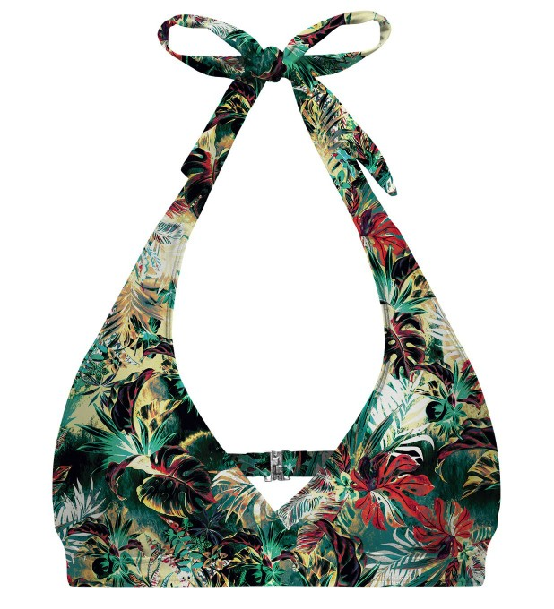 Tropical Jungle halter neck bikini top Miniature 1