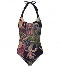 Mr. Gugu & Miss Go, Jungle Bird open back swimsuit Thumbnail $i