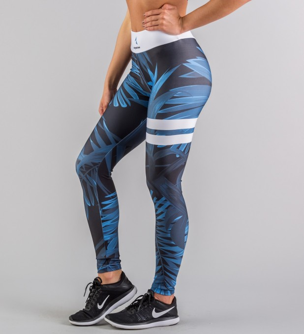 Navy Tropical classic leggings Thumbnail 1