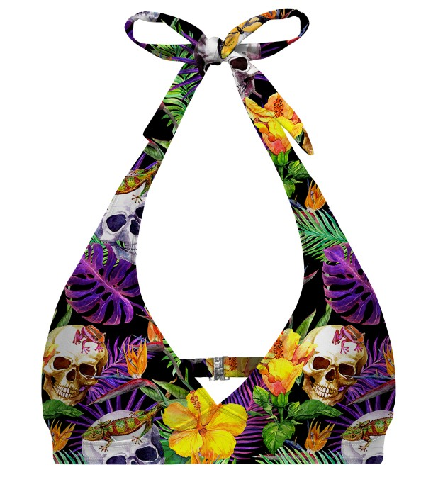 Skulls in Flowers halter neck bikini top аватар 1