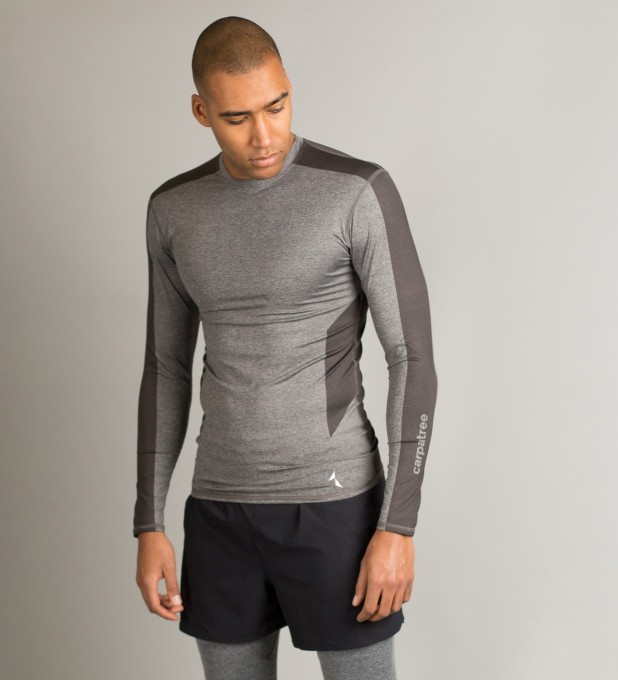 Grey Shaded Longsleeve Rashguard Miniature 1