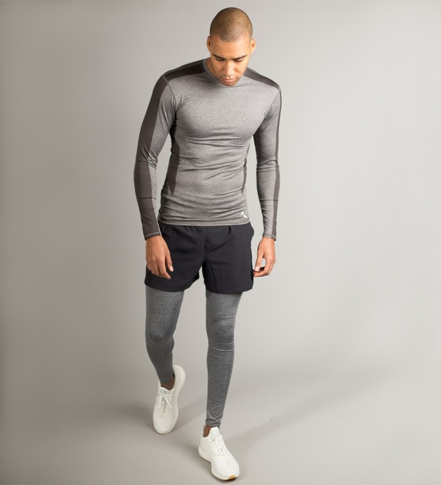 Grey Shaded Longsleeve Rashguard Miniature 2