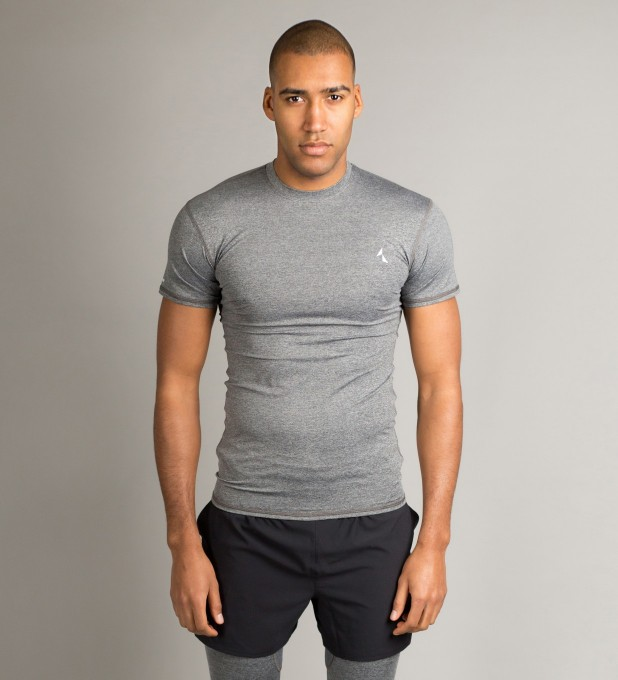 Grey Basic Shortsleeve Rashguard Miniature 2