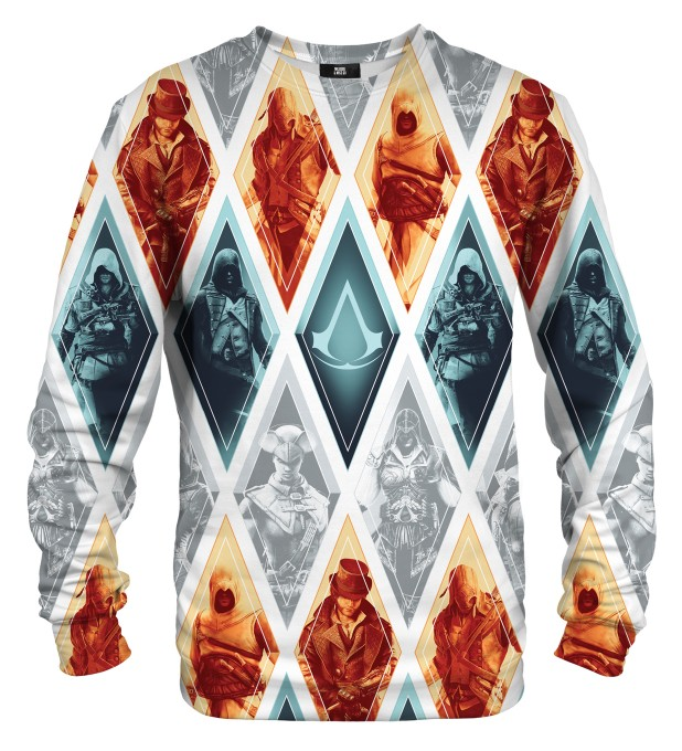 Bluza ze wzorem Nothing is True Everything is Permitted sweater Miniatury 1