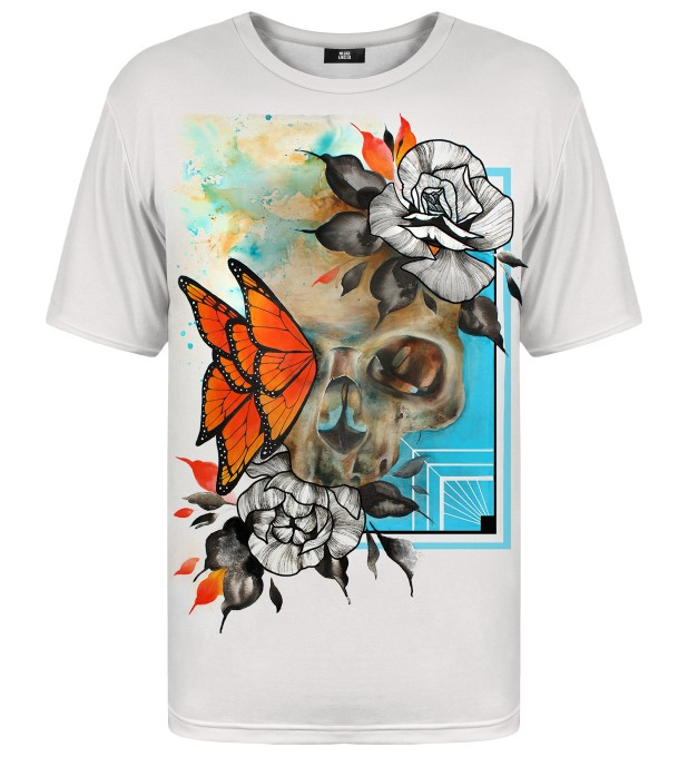 Butterfly & Skull t-shirt Miniature 2