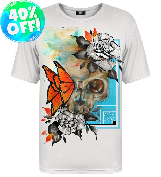 Butterfly & Skull t-shirt Miniature 1