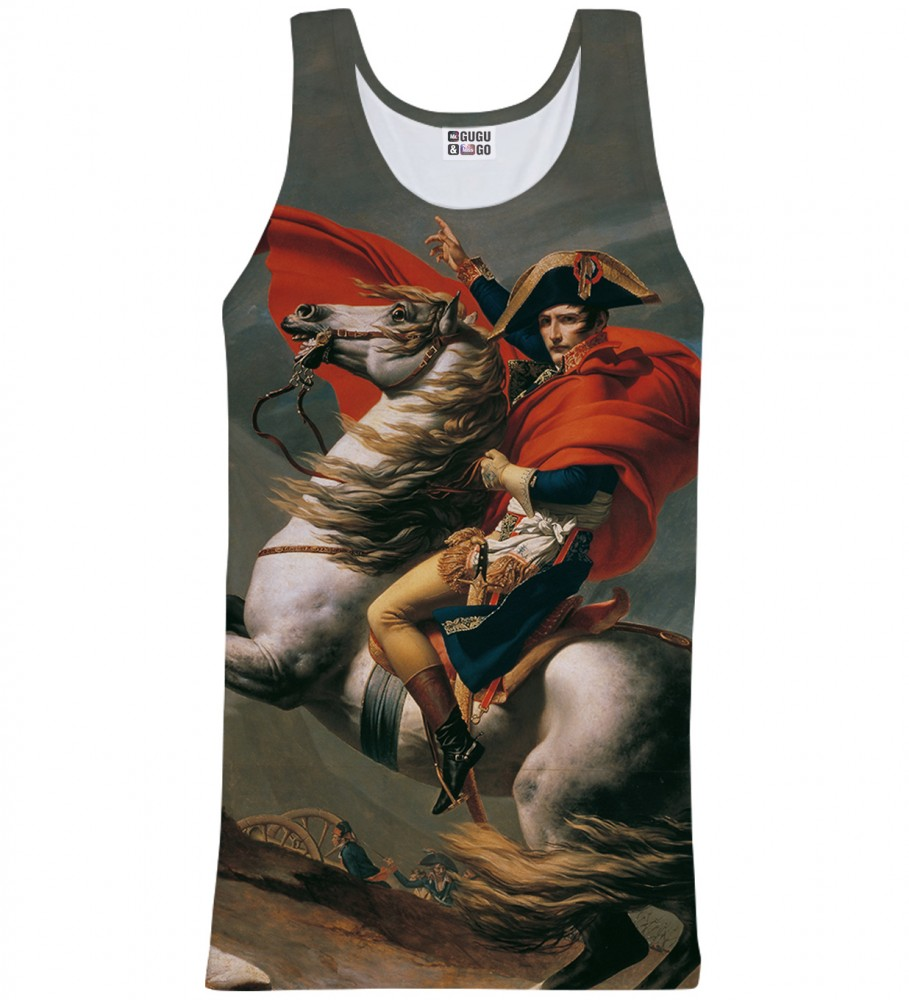 Mr. Gugu & Miss Go, Napoleon Crossing the Alps tank-top Imagen $i