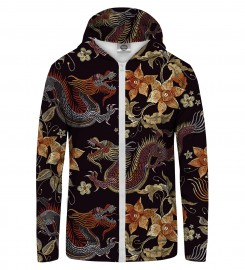 Mr. Gugu & Miss Go, Japanese Dragon Zip Up Hoodie Thumbnail $i