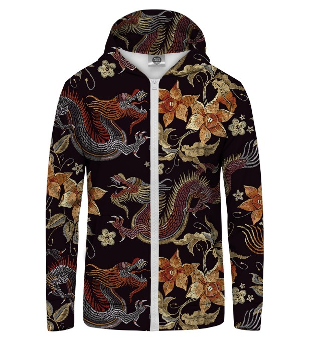 Japanese Dragon Zip Up Hoodie Miniature 1
