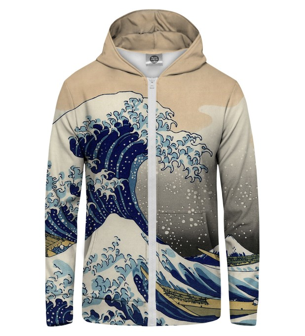 Kanagawa Wave Zip Up Hoodie Miniature 1