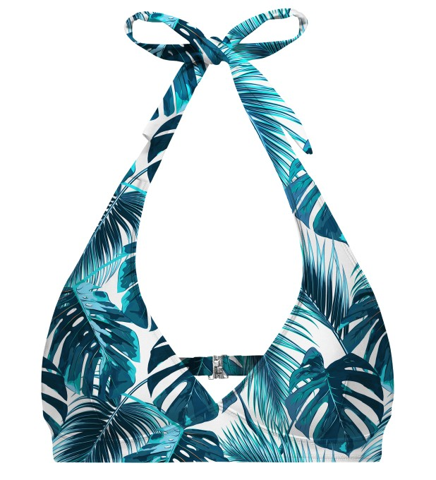 Tropical Heaven halter neck bikini top Miniatura 1