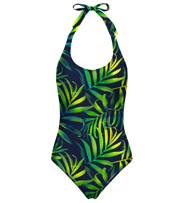Tropical Power open back swimsuit Miniatura 1