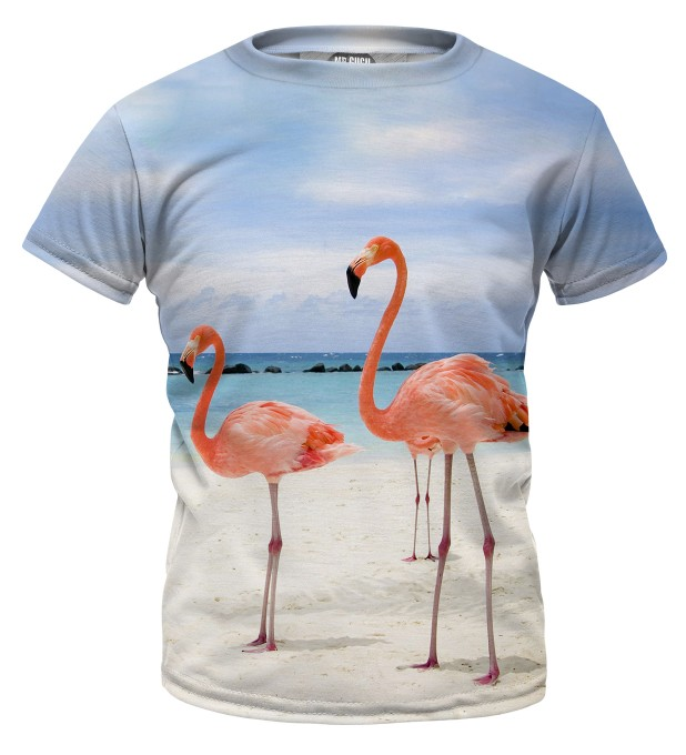 Flamingos on the beach t-shirt für Kinder Miniaturbild 1