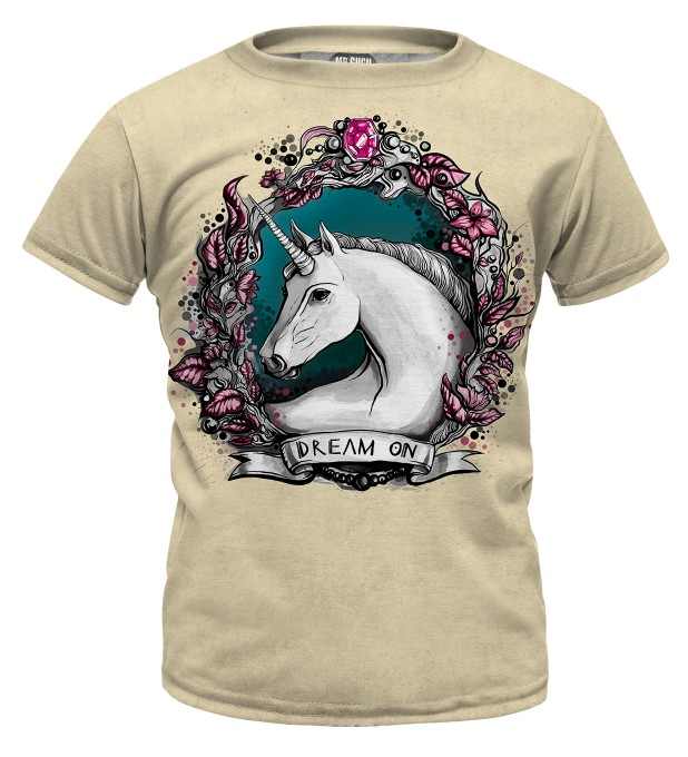 Unicorn portrait t-shirt for kids Thumbnail 1