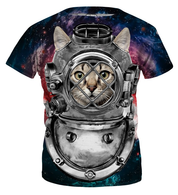 Astronaut cat t-shirt for kids Miniatura 1