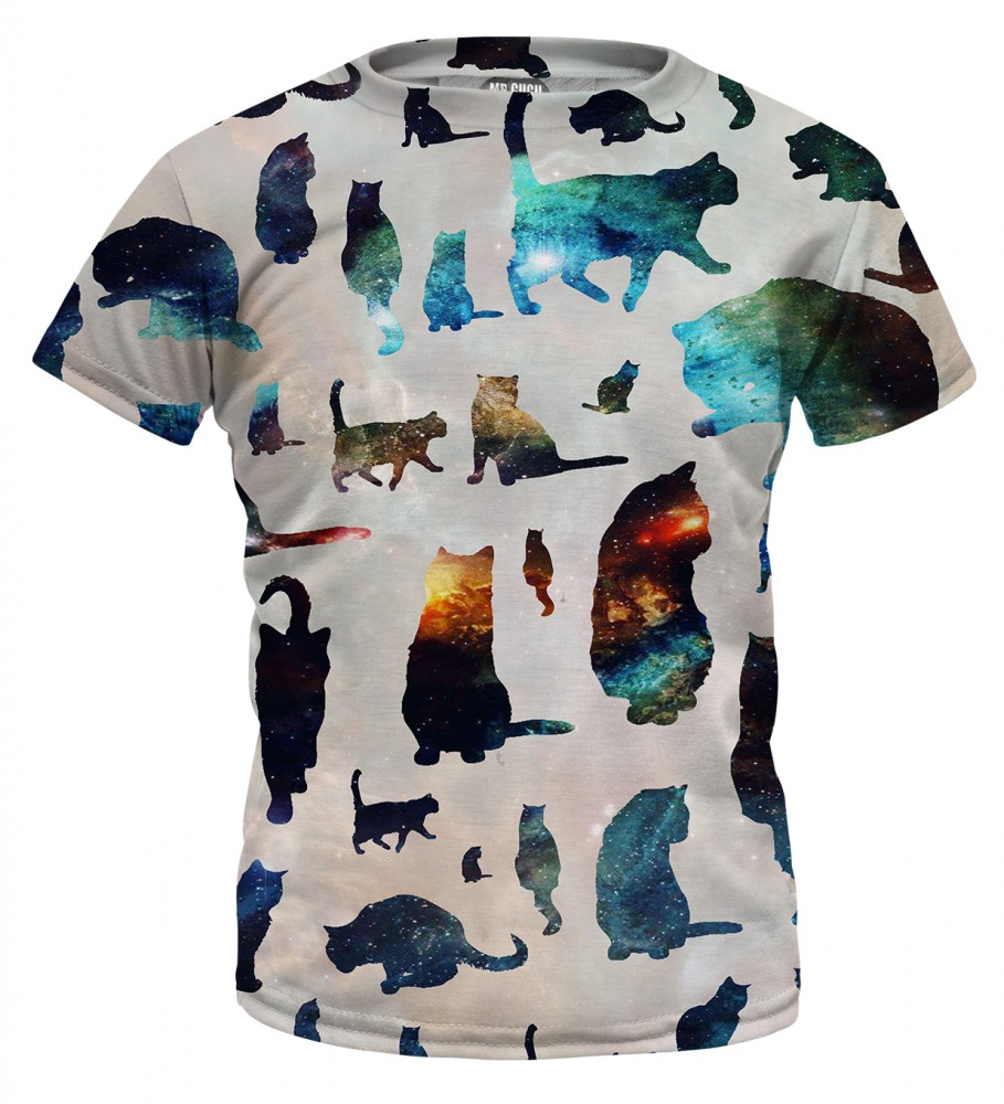 Mr. Gugu & Miss Go, Galaxy cats t-shirt for kids Image $i
