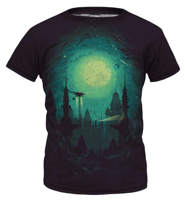 Futuristic city t-shirt for kids аватар 1
