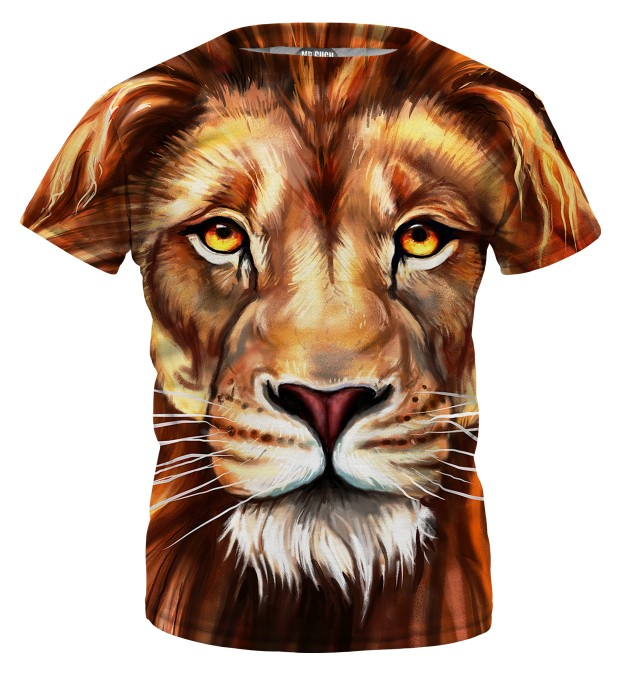Oil Painting Lion t-shirt for kids Miniature 1