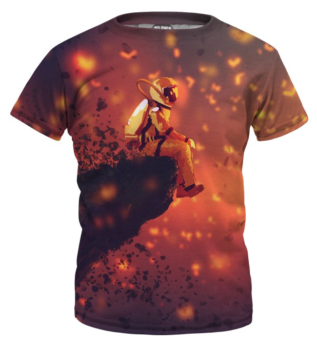 Volcano Astronaut t-shirt for kids Miniature 1