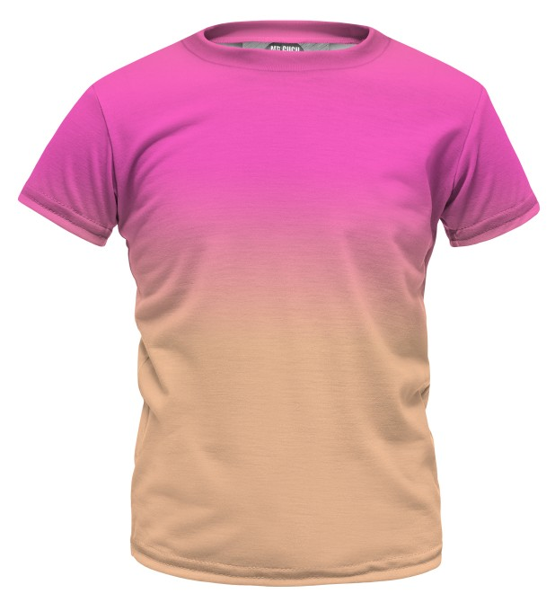 Pink & Orange Ombre t-shirt for kids Miniatura 1