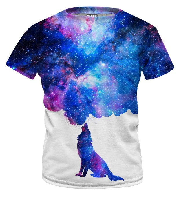 Howling to galaxy t-shirt for kids Miniature 1