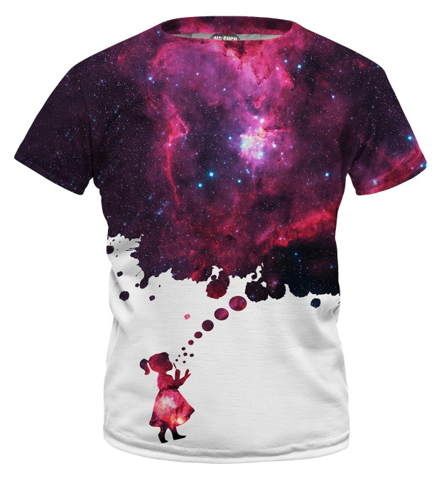 Bubbles to space t-shirt for kids Miniature 1