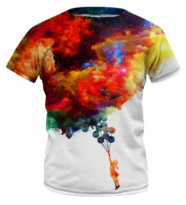 With balloons to galaxy t-shirt for kids Miniature 1