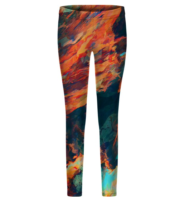 Sky is burning leggings for kids Thumbnail 1