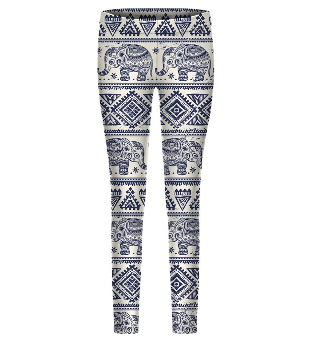 Elephants Pattern leggings for kids Thumbnail 1