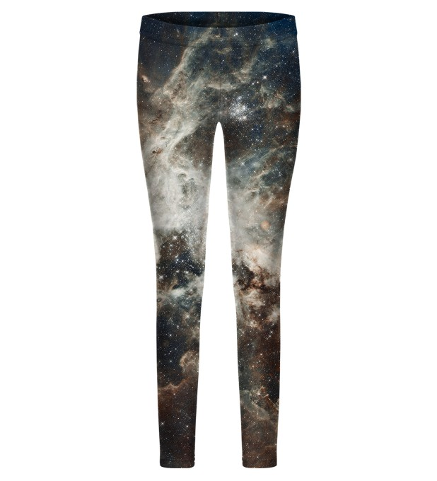 Golden Blue Galaxy leggings for kids Thumbnail 1