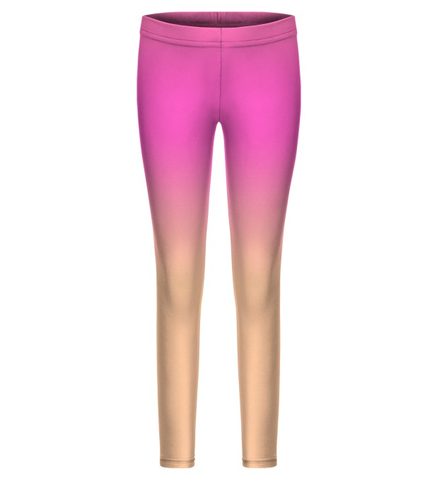 Pink & Orange Ombre leggings for kids Thumbnail 1
